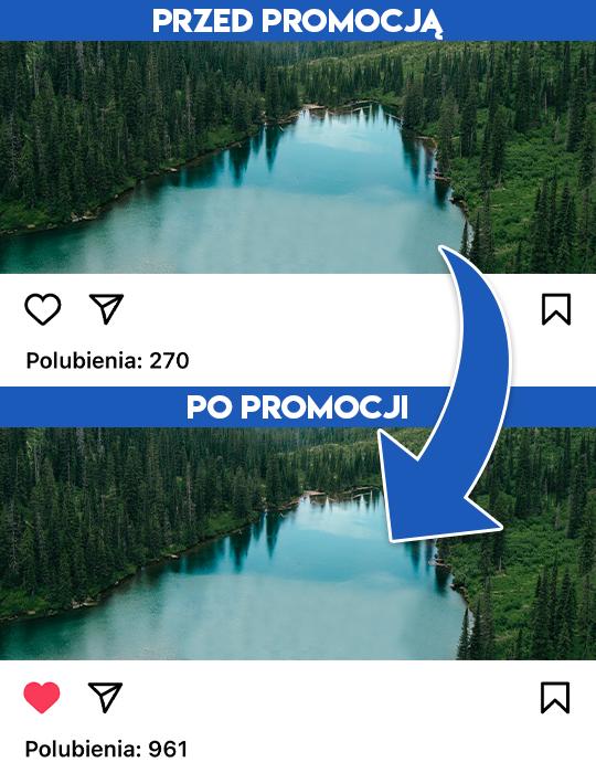 lajki na instagramie - wypromowani