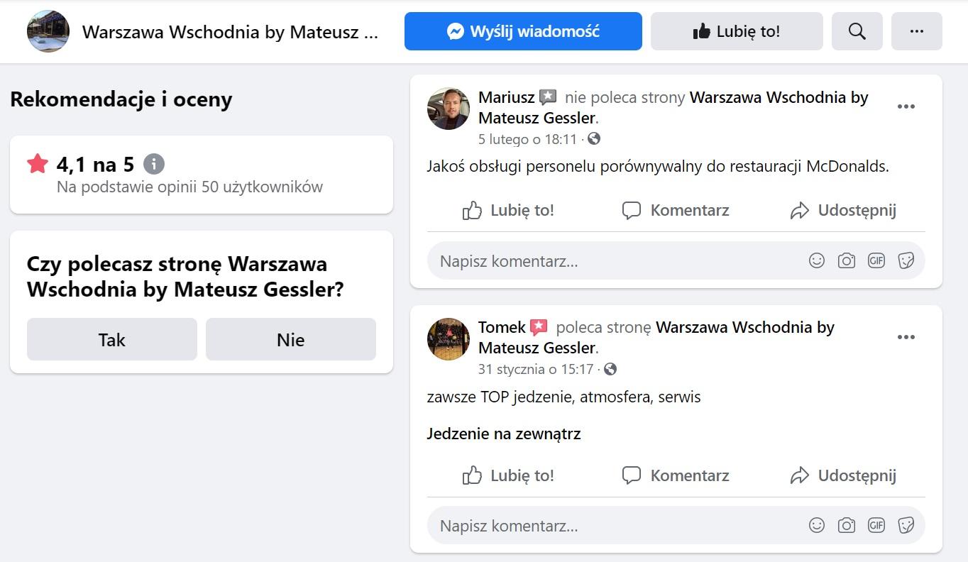 facebook recenzje