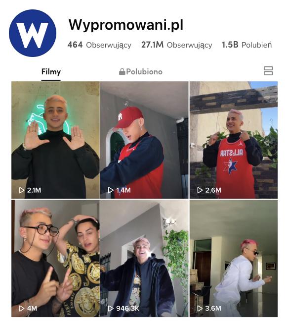 promocja konta na tiktoku z Wypromowani.pl